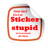 sticker stupid