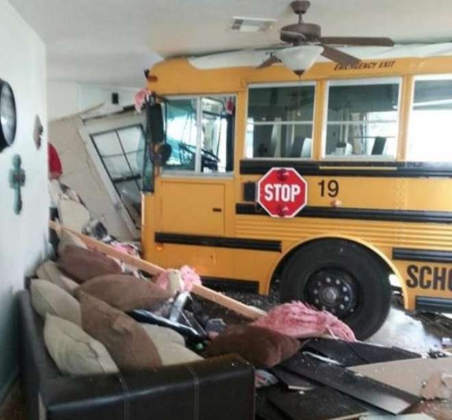 autobuz in casa